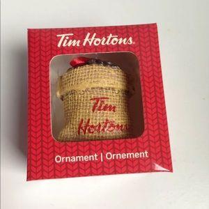 Tim Hortons Ornament Sack of Coffee Beans 2016 NIB